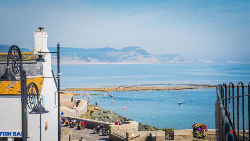 jurassic coastline view from lyme regis