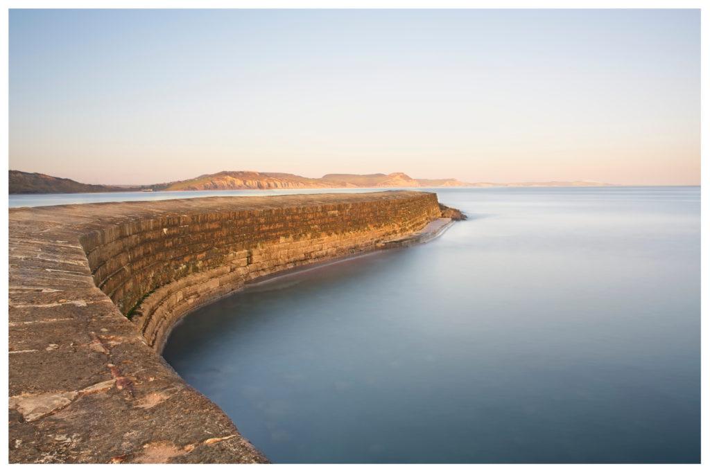 lyme regis the cobb harbour wall