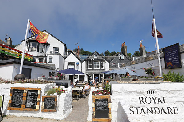 royal standard pub beer garden dorset